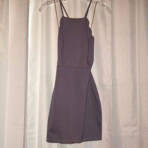 Lulus Lavender body con scalloped mini dress